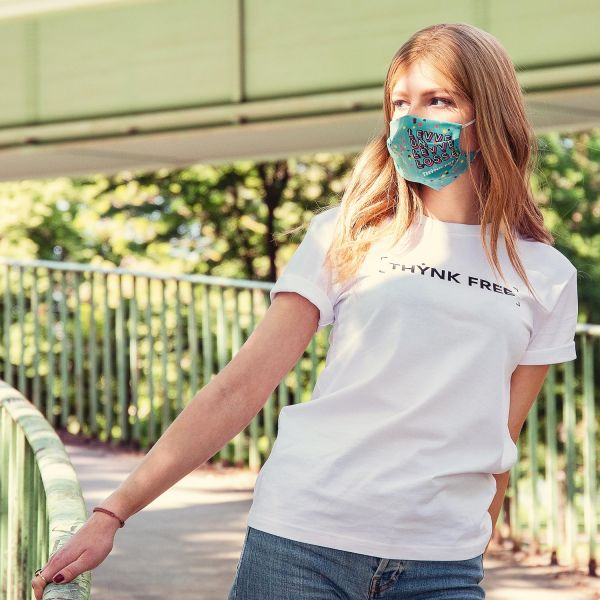 Unisex Organic T-Shirt, THYNK FREE, white