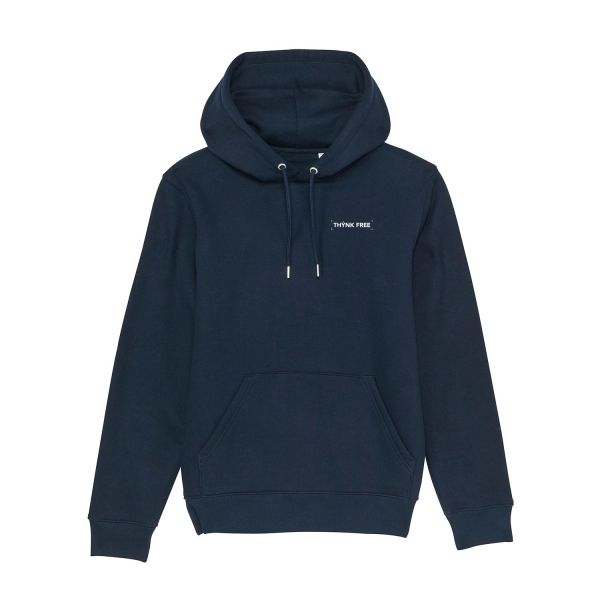 Unisex Organic Hoodie, THYNK FREE, french navy
