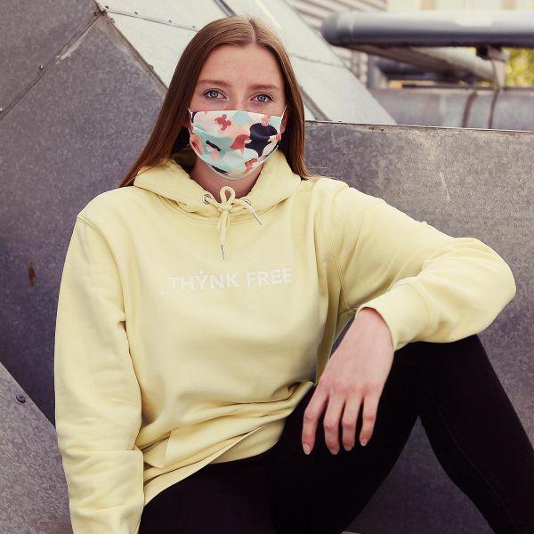 Unisex Organic Hoodie, THYNK FREE, yellow mist